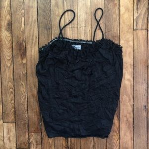 *NWT* ONE STEP UP Black Lace Tank Top